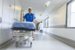 Motion Blur Stretcher Gurney Patient Hospital Stock Image