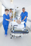 Motion Blur Stretcher Gurney Patient Hospital Emergency Royalty Free Stock Photography
