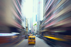 Motion blur traffic Stock Images
