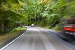 Motion Blur in Traffic Stock Images