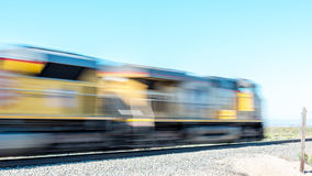 Motion blur train in the country Royalty Free Stock Images