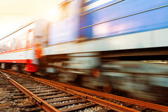 Motion Blur train Stock Photography