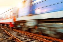Motion Blur train Stock Photography
