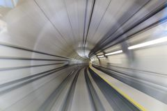Motion blur of tunnel Stock Image