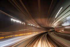 Motion blur train road Royalty Free Stock Photos