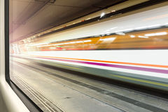 Motion blur train Stock Images
