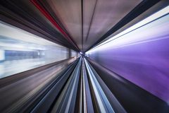 Motion Blur on a Train. Motion blur viewed from a train Royalty Free Stock Photo