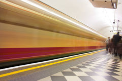 Motion blur tube Stock Photo