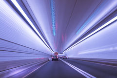 Motion Blur in a Tunnel Royalty Free Stock Photo