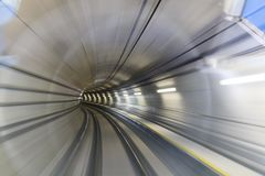 Motion blur of tunnel Royalty Free Stock Images