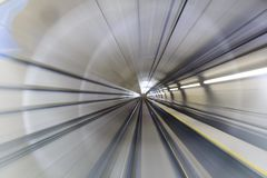Motion blur of tunnel Stock Photo