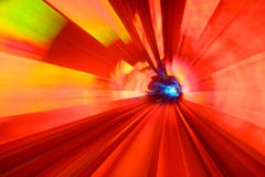 Motion Blur Tunnel Stock Photos