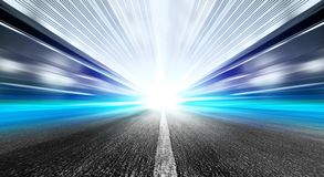 Motion blur in urban tunnel Royalty Free Stock Images