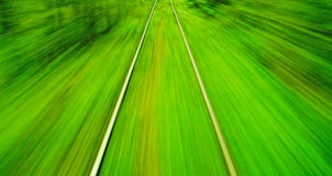Motion blur view from o train on high speed Stock Photography