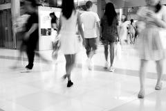 Motion blur walking people Royalty Free Stock Photos