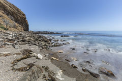 Free Motion Blur Waves At Abalone Cove Shoreline Park In California Royalty Free Stock Image - 94751006