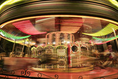 Motion blurr carousel. Royalty Free Stock Image