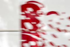 Motion blurred abstract red and white background or wallpaper. stock photos