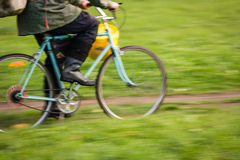 Motion blurred bicycle Royalty Free Stock Image