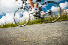 Motion blurred biker Royalty Free Stock Photos