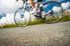 Motion blurred biker Royalty Free Stock Photos
