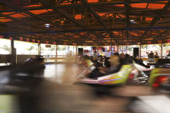 Motion Blurred Bumper cars Stock Photo