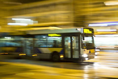 Motion blurred bus. Night shot of a bus in motion blur Royalty Free Stock Image
