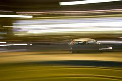 Motion blurred car Royalty Free Stock Photo