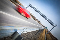 Motion blurred cars on a highway Stock Image