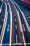 Motion blurred city road traffic Royalty Free Stock Photography