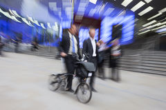 Motion Blurred Commuters Stock Photography