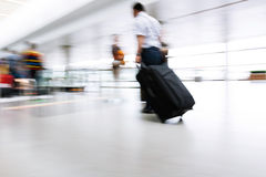 Motion blurred commuters Royalty Free Stock Photo