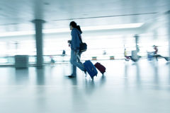 Motion blurred commuters Royalty Free Stock Photos