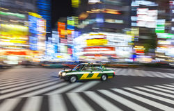 Motion Blurred on Crossing, Shibuya, Tokyo, Japan Royalty Free Stock Image