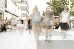 Motion blurred crowd Royalty Free Stock Photography