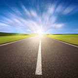 Motion blurred empty asphalt road royalty free stock photography