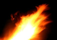 Motion blurred flame Stock Photography