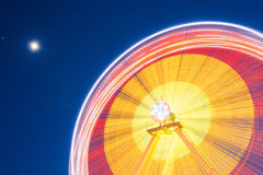Motion Blurred Of High Speed Rotating Attraction Amusement Park. Stock Photography