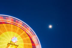 Motion Blurred Of High Speed Rotating Attraction Amusement Park. Stock Image