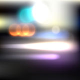 Motion blurred lights Royalty Free Stock Photos