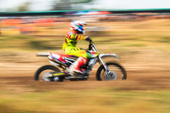 Motion blurred of motocross Stock Image
