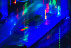 Motion Blurred Neon Lights Royalty Free Stock Photography