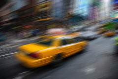Motion blurred New York City Royalty Free Stock Photos