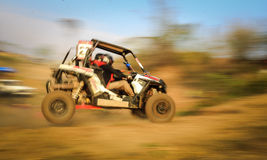 Motion blurred of off-road racing Stock Image