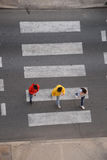 Pedestrian crosswalk crossing Stock Photo