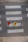 Pedestrian crosswalk crossing Stock Photo