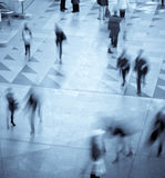 Motion blurred of people. Walking in subway Royalty Free Stock Images