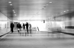 Motion blurred of people Royalty Free Stock Photo