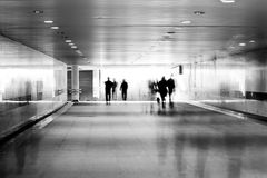 Motion blurred of people Royalty Free Stock Image