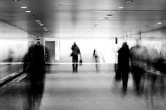 Motion blurred of people Stock Photo